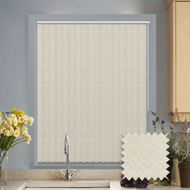Vertical blinds - Made to Measure vertical blind in Tern cream - Just Blinds